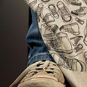 An illustration design for Converse POS Shopping Bag