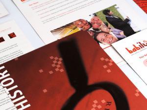 Babilu sales kit brochure design goals is to recruit Online Sellers
