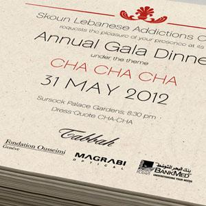 Skoun Gala Dinner Invitation Card