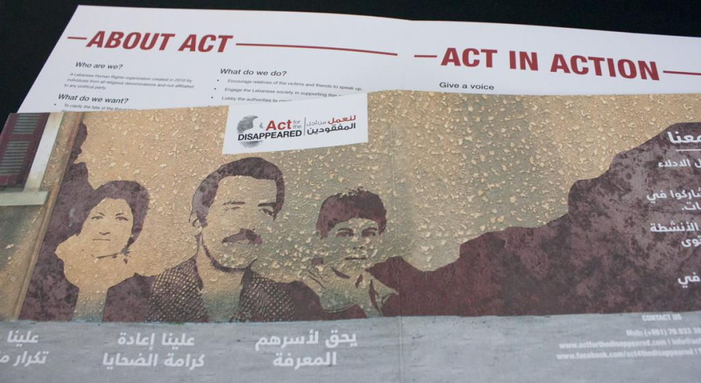Act for the Disappeared Flyer