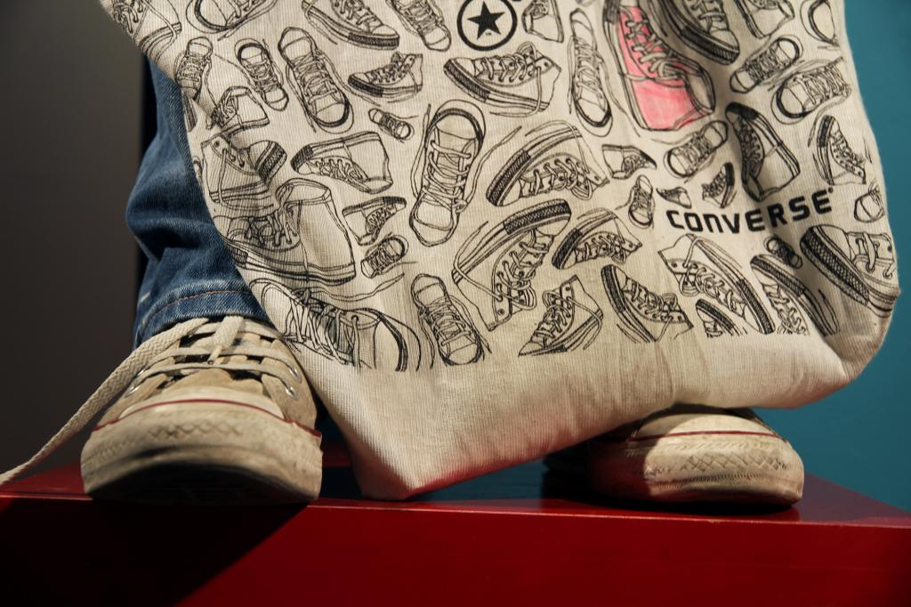 An illustration design for Converse POS Shopping Bag