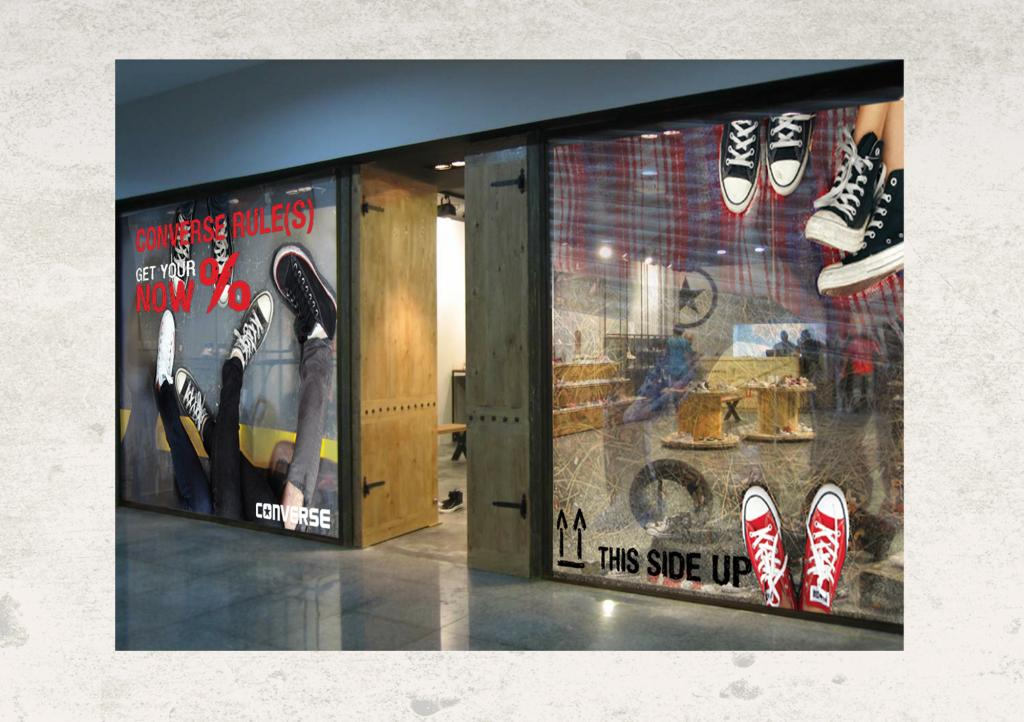 Converse Window Display Design for ABC Retail Store