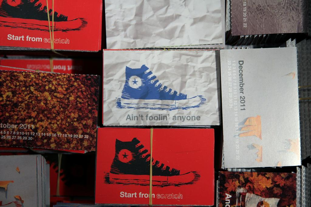 Converse Yearly Calendar Kubik Design Studio