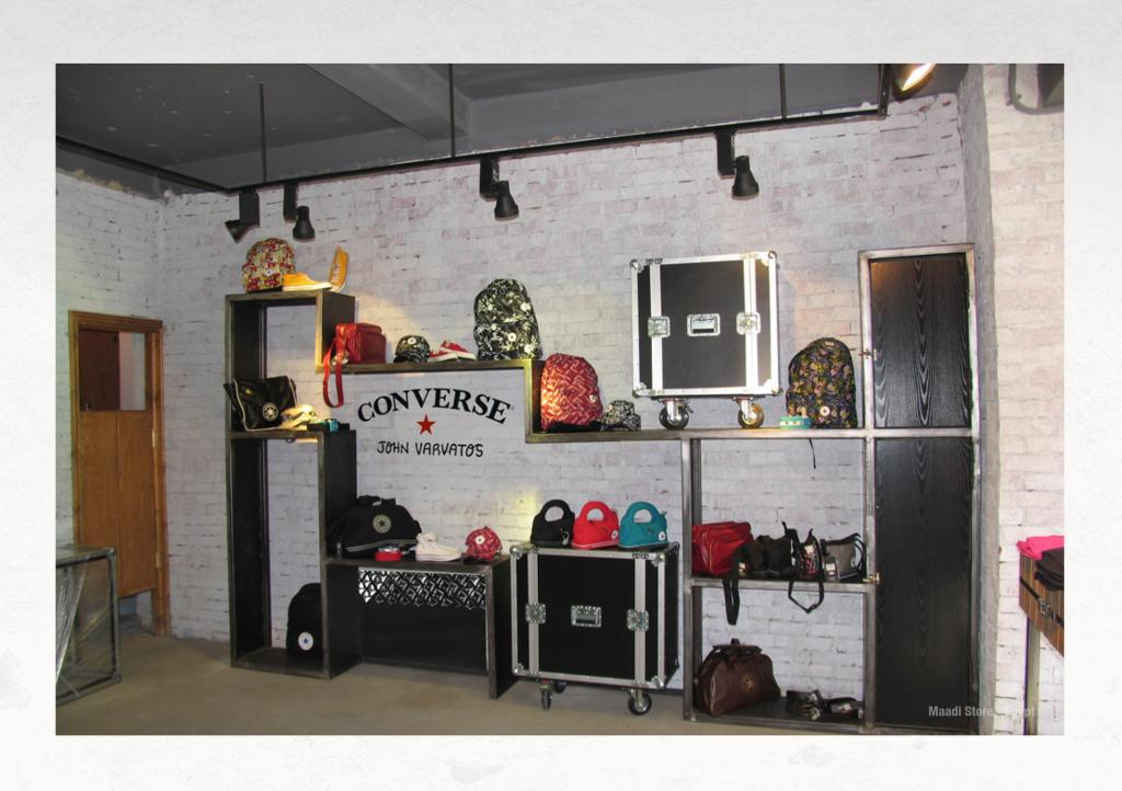 Converse Store products stand and shoe display design