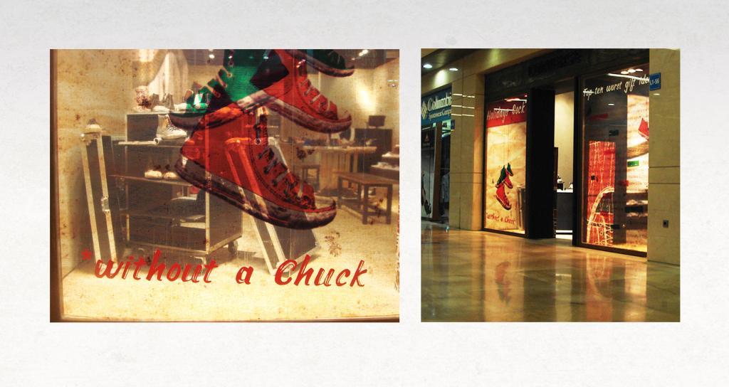 Converse Store Christmas Window Display