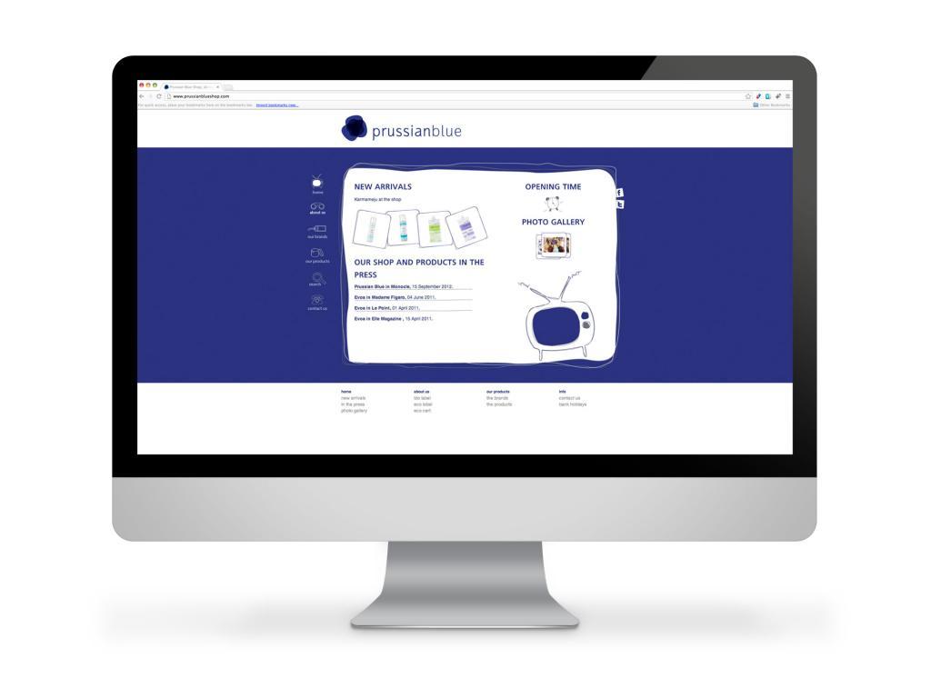 Prussian Blue Website Homepage