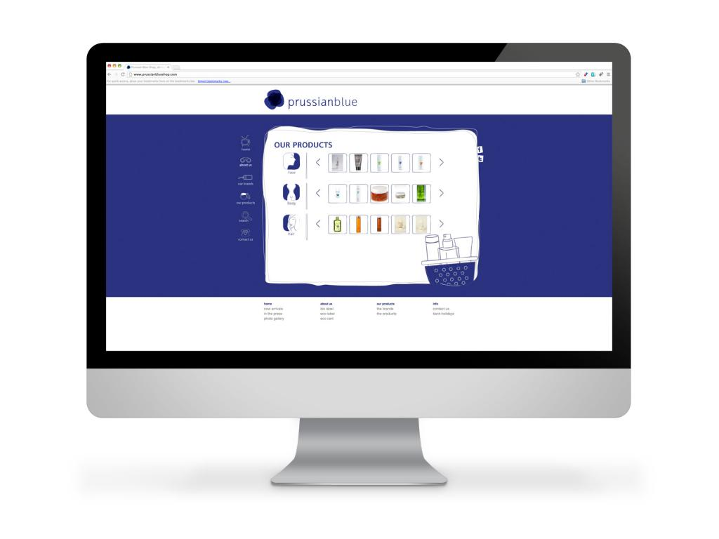 Prussian Blue Website Products