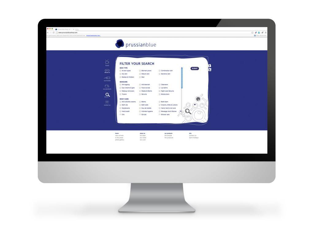 Prussian Blue Website Filter