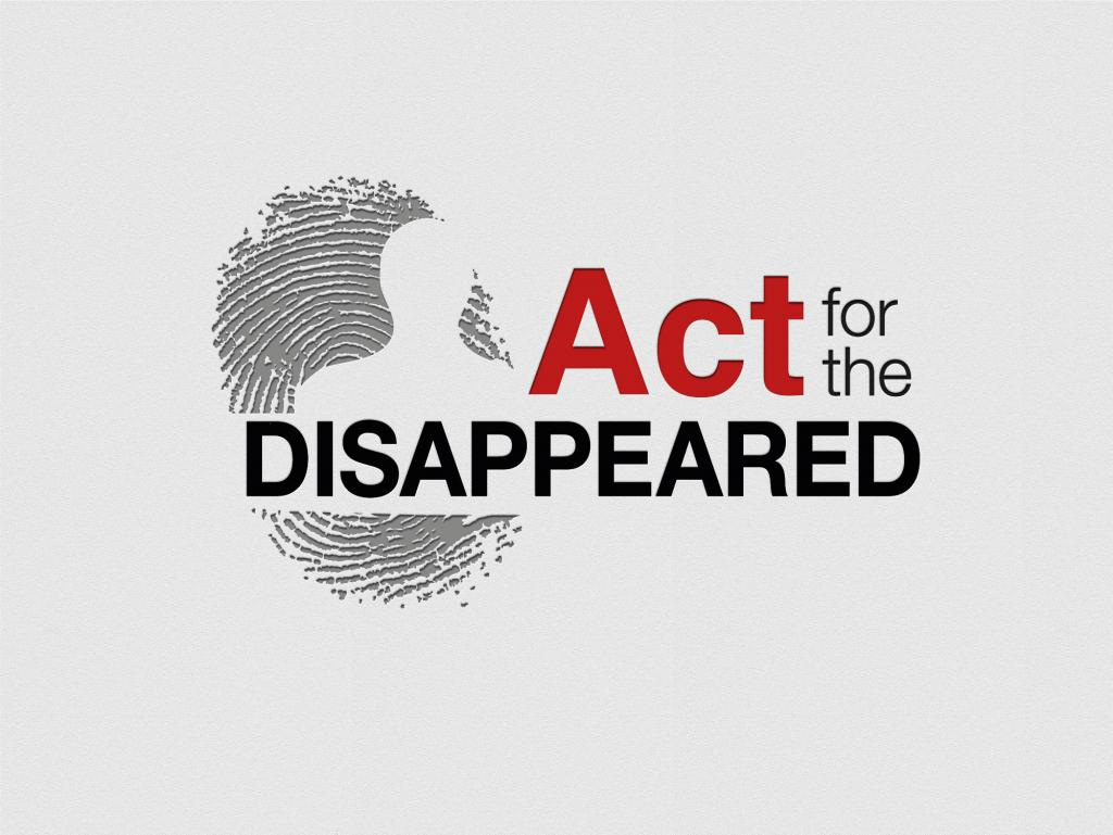 Act for the disappeared - Logo