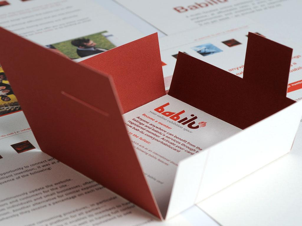 Babilu Sales Kit Card Packaging