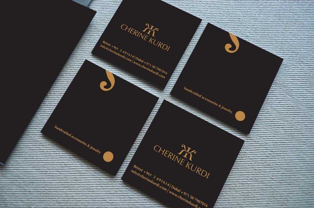 Cherine Kurdi Business Card Design