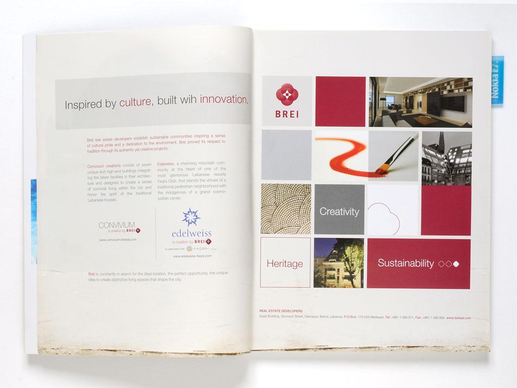 Magazine - Press ad design for Brei and Convivium