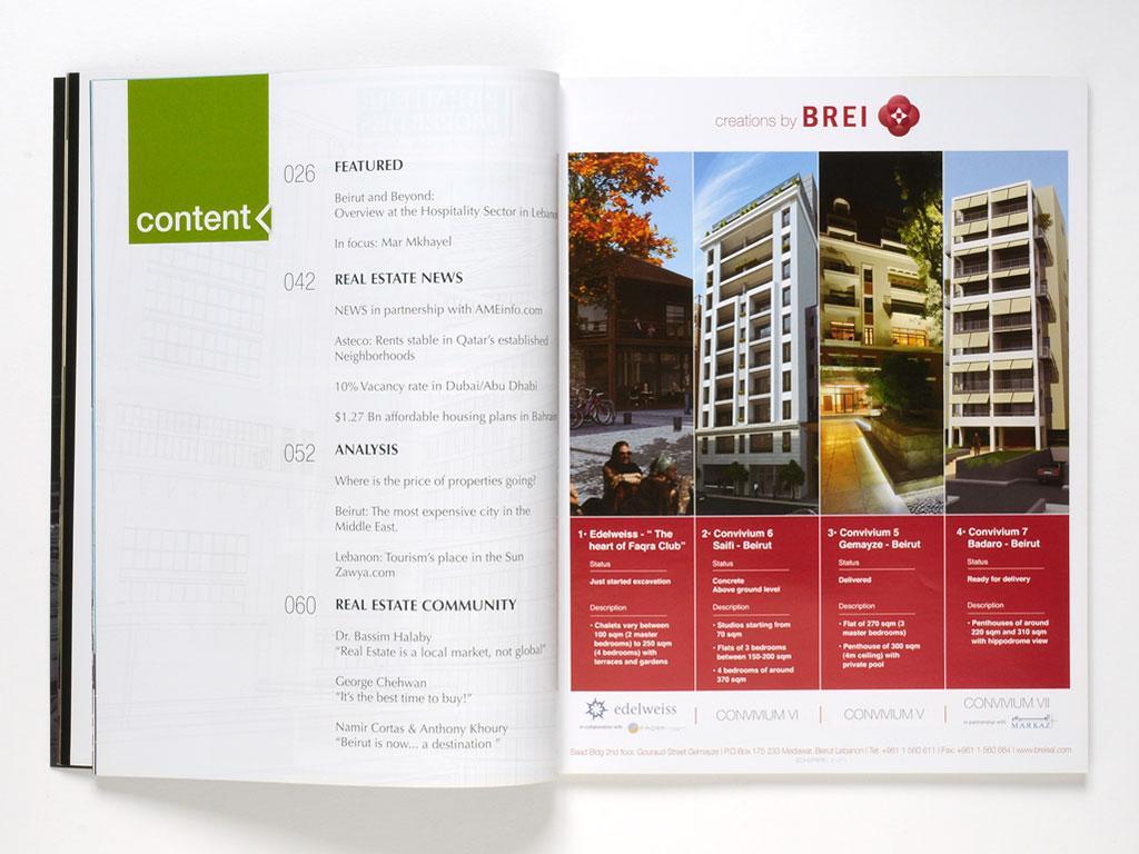Magazine - Press ad design for Brei and Convivium VI