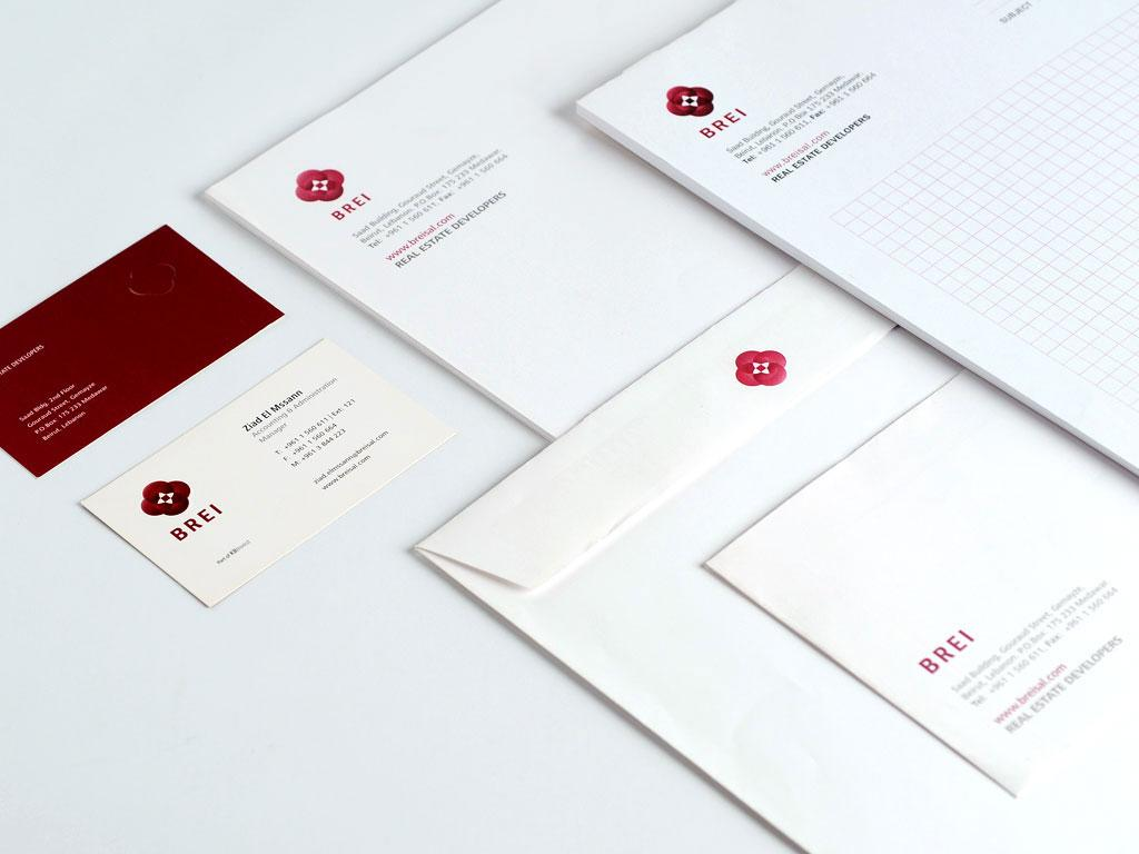 Brei Stationery Items Design