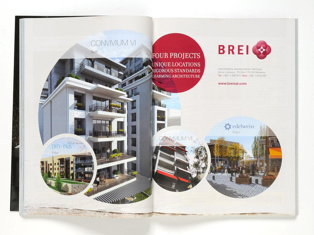 Magazine - Press ad design for Brei and Convivium VI