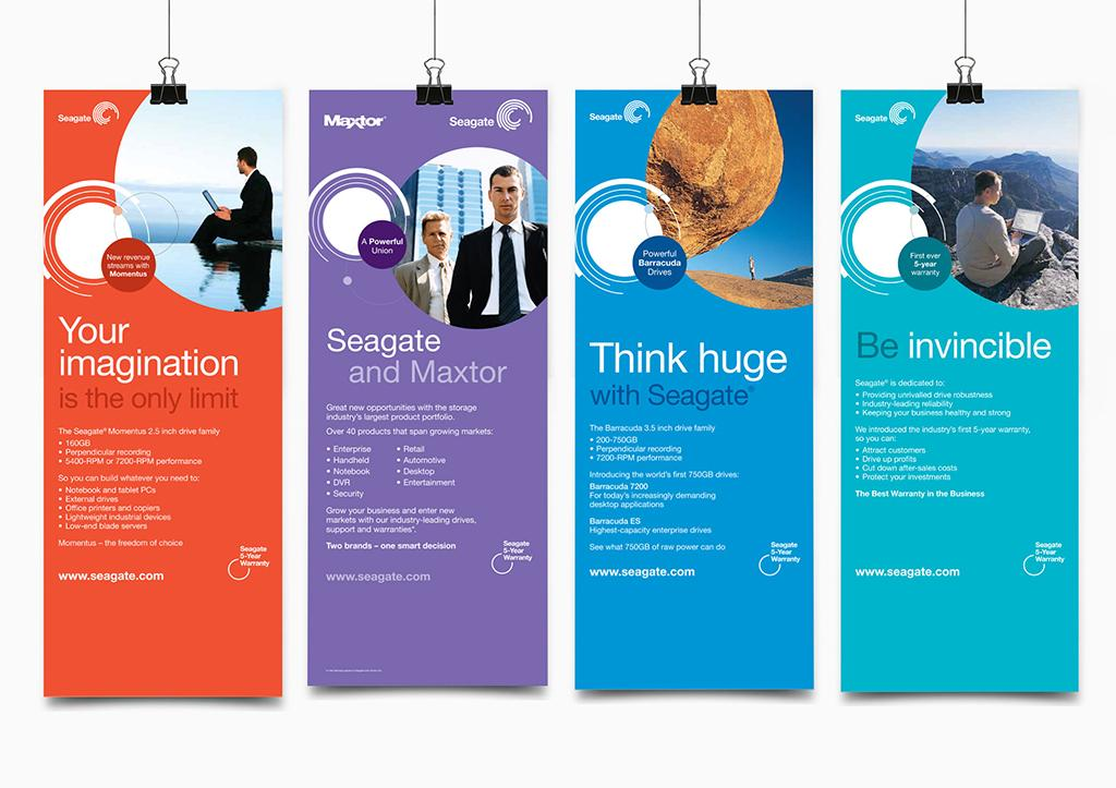 Banners design for Seagate launching event