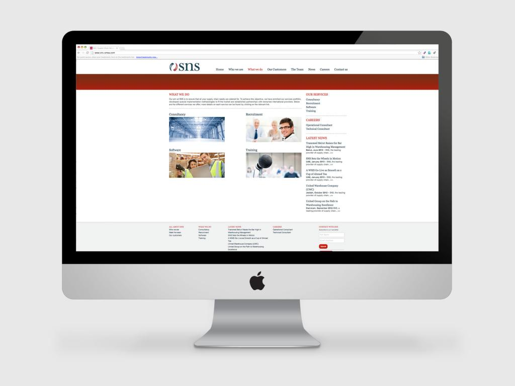 SNS logistics website